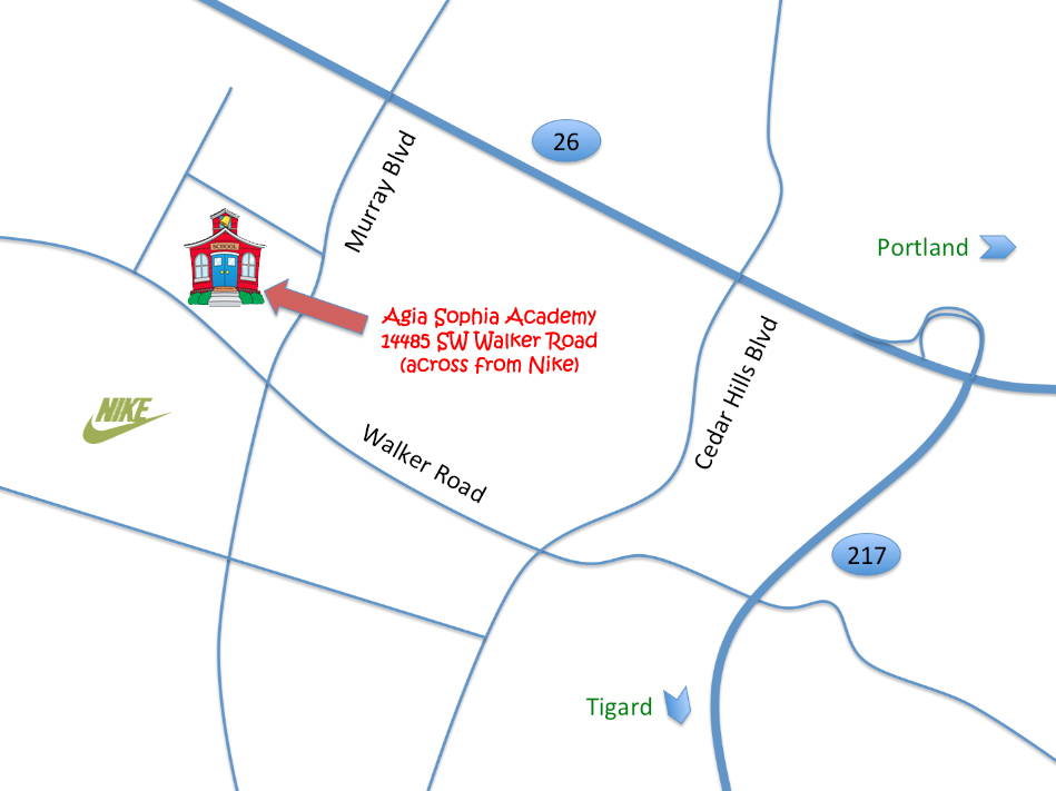 Map of Agia Sophia Academy's location